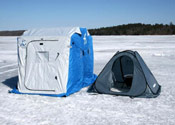 Ice fishermen can use this product as a quick shelter.
